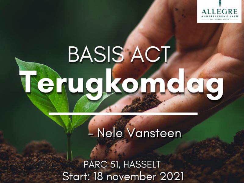 Terugkomdag ACT (Basis) te Hasselt op 18 november
