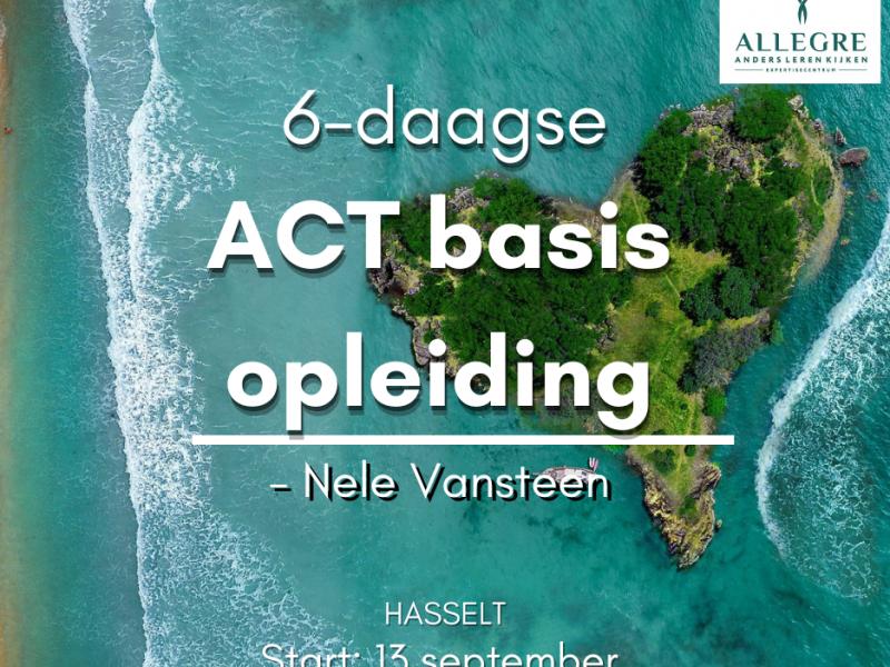6-daagse basisopleiding ACT - te Hasselt - ODB 0003507 - met start op 13 september