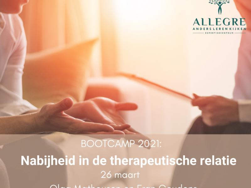 Bootcamp workshop: Nabijheid in de therapeutische relatie