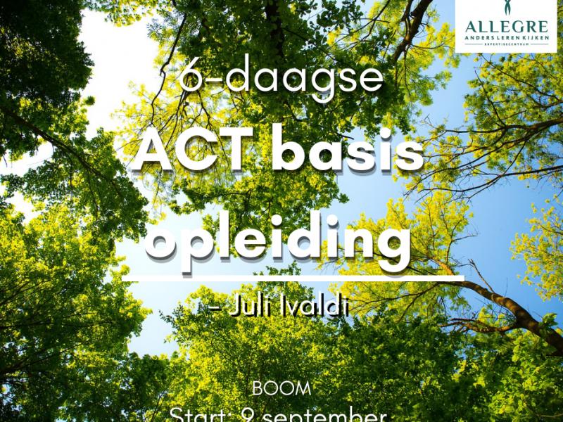 6-daagse basisopleiding ACT - te Boom - ODB 0003507 - met start op 9 september