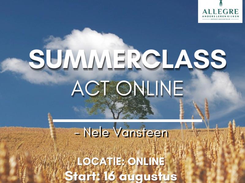 Summerclass: 'ACT online' - met start op 16 augustus