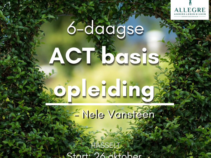 6-daagse basisopleiding ACT - te Hasselt- ODB 0003507 - met start op 26 oktober