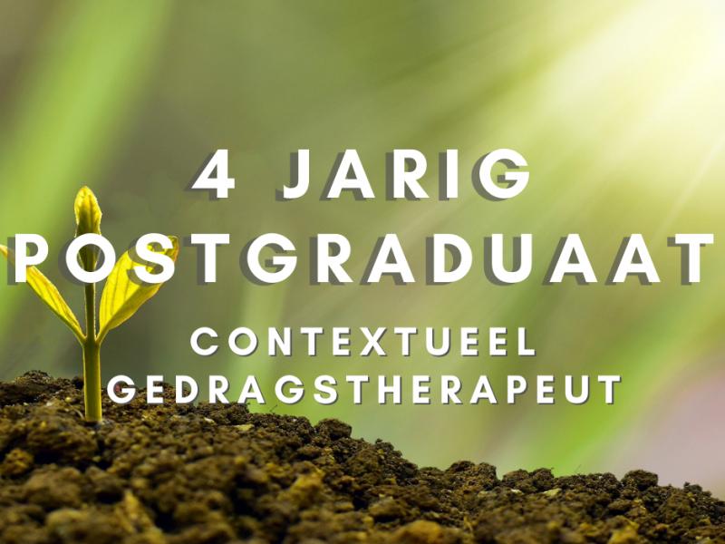 4-jarig postgraduaat tot contextuele gedragstherapeut